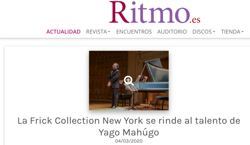 La Frick Collection New York se rinde al talento de Yago Mahugo